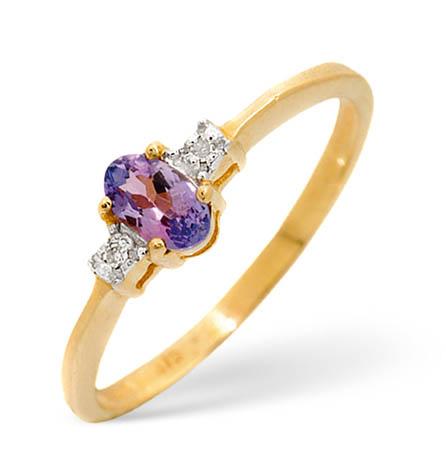 Diamond and Tanzanite Ring 0.28ct