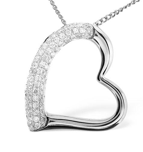 Diamond Heart PendantNecklace 0.29ct