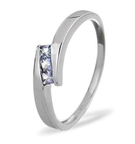 Tanzanite CrossOver Ring 0.30ct 9k White Gold