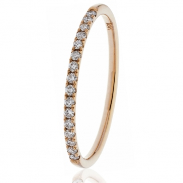 Diamond Half Eternity Ring 0.15ct, 18k Rose Gold