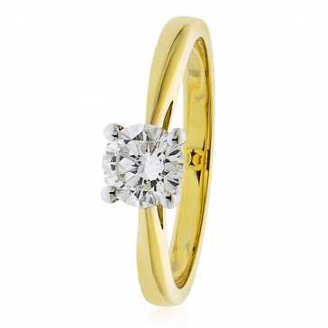 Diamond Solitaire Engagement Ring 1.00ct, 18k Gold