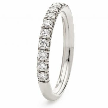 Diamond 60% Eternity Ring 0.65ct, 18k White Gold