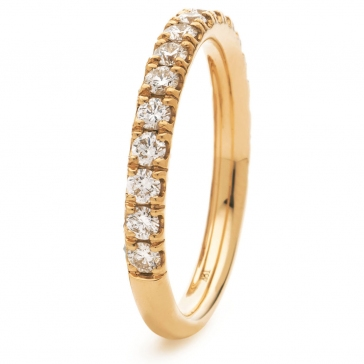 Diamond Half Eternity Ring 0.80ct, 18k Rose Gold