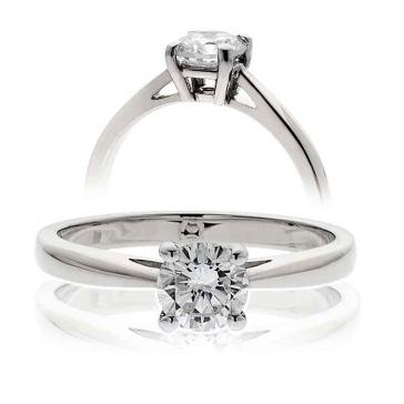 Classic Diamond Solitaire Engagement Ring 0.90ct, Platinum