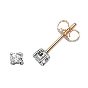 Classic Diamond Stud Earrings 0.20ct, 9k Gold