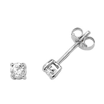 Classic Diamond Stud Earrings 0.30ct, 9k White Gold