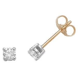 Classic Diamond Stud Earrings 0.33ct, 18k Gold