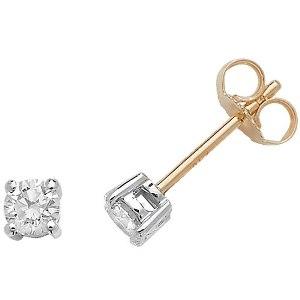 Classic Diamond Stud Earrings 0.40ct, 18k Gold