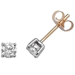 Classic Diamond Stud Earrings 0.50ct, 9k Gold