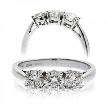 Classic Diamond Trilogy Ring 0.60ct, Platinum