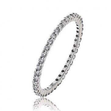 Petite Diamond Full Eternity Ring 0.50ct, 18k White Gold