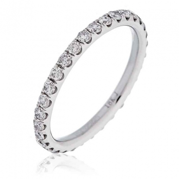 Diamond Full Eternity Ring 0.75ct in Platinum