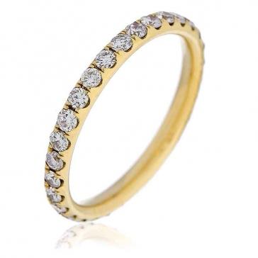 Diamond Full Eternity Ring 0.75ct, 18k Gold