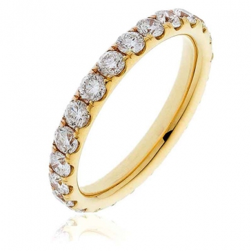 Diamond Full Eternity Ring 1.50ct, 18k Gold