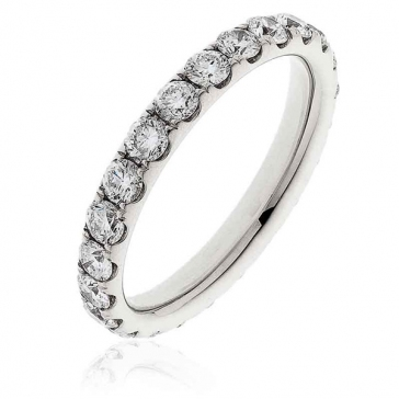 Diamond Full Eternity Ring 1.50ct, 18k White Gold
