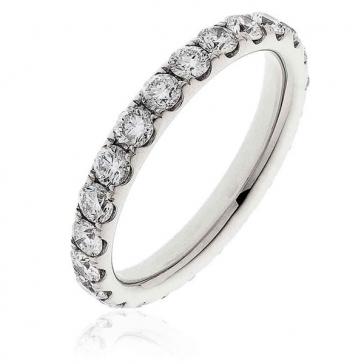 Diamond Full Eternity Ring 1.50ct, Platinum
