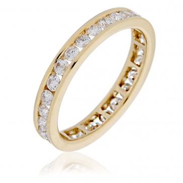 Diamond Full Eternity Ring Channel Set 1.00ct, 18k Gold