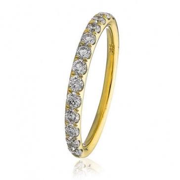 Diamond Half Eternity Ring 0.45ct in 18k Gold