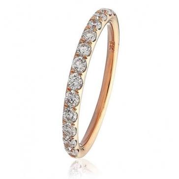 Diamond Half Eternity Ring 0.45ct in 18k Rose Gold
