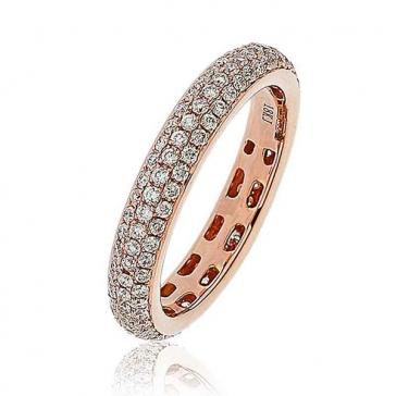 Diamond Pave Full Eternity Ring 1.00ct, 18k Rose Gold