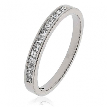 Diamond Princess Half Eternity Ring 0.25ct in Platinum