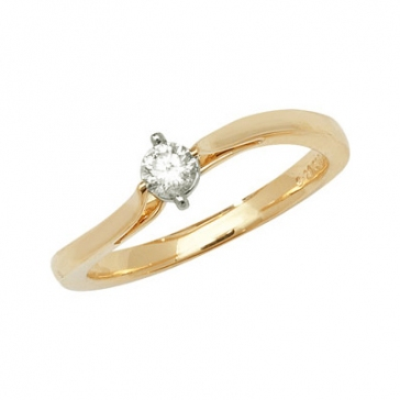 Diamond Wave Engagement Ring 0.21ct, 9k Gold