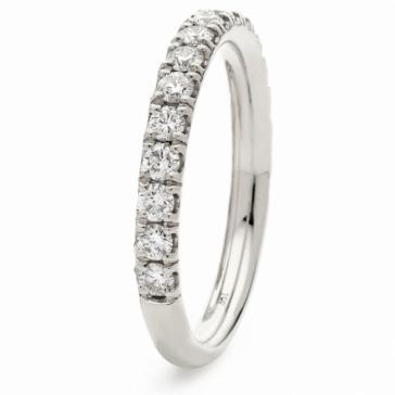Diamond 60% Eternity Ring 0.50ct, 18k White Gold