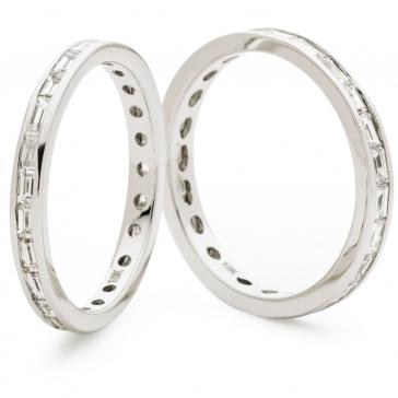 Diamond Baguette Eternity Ring 1.00ct, 18k White Gold