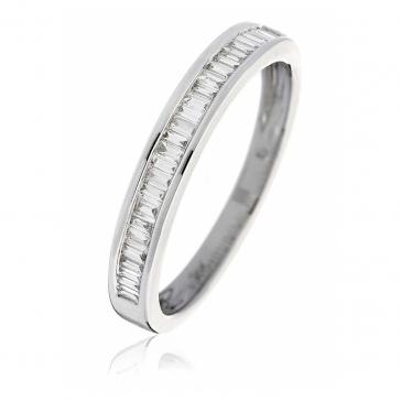Diamond Baguette Half Eternity Ring 0.25ct in Platinum