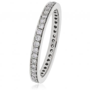 Diamond Full Eternity Ring 0.45ct, 18k White Gold
