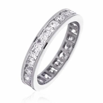 Diamond Full Eternity Ring Channel Set 1.50ct, 18k White Gold