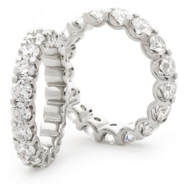 Diamond Full Eternity Ring Claw Set 2.00ct, 18k White Gold