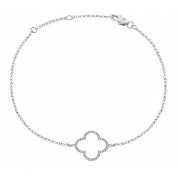 Diamond Pendant Bracelet 0.15ct, 18k White Gold