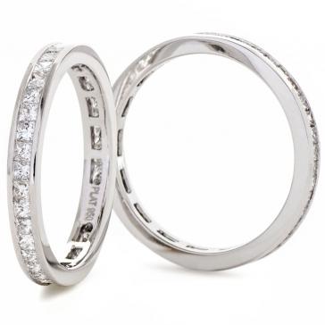 Diamond Princess Eternity Ring 0.70ct, Platinum