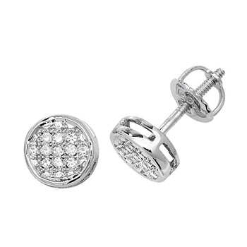 Diamond Stud Earrings 0.10ct, 9k White Gold
