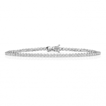 Diamond Tennis Bracelet 0.75ct in 9k White Gold
