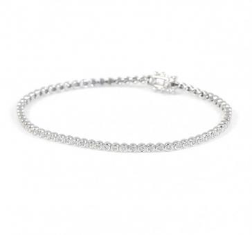 Diamond Tennis Bracelet 1.00ct G/SI, 18k White Gold