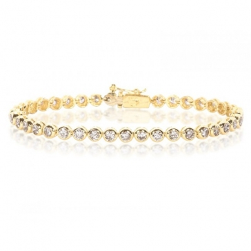 Diamond Tennis Bracelet 3.00ct, 18k Gold G/SI1
