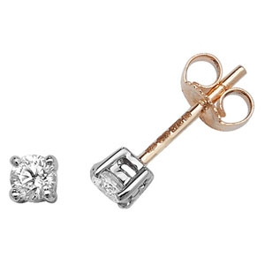 Classic Diamond Stud Earrings 0.30ct, 9k Gold
