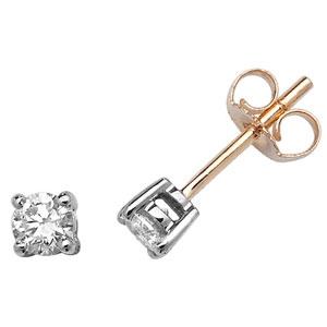 Classic Diamond Stud Earrings 0.40ct, 9k Gold
