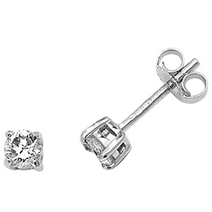 Classic Diamond Stud Earrings 0.40ct, 9k White Gold
