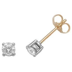 Classic Diamond Stud Earrings 0.50ct G/SI, 18k Gold