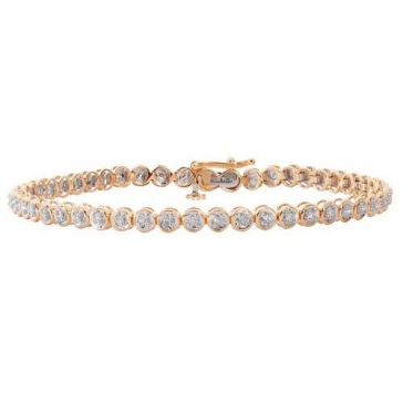 Diamond Tennis Bracelet 0.50ct in 9k Gold