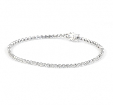 Diamond Tennis Bracelet 1.00ct G/SI, 9k White Gold
