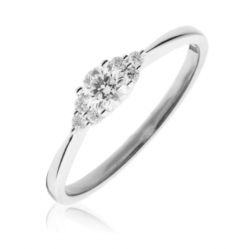 Diamond Engagement Ring 0.30ct, 18k White Gold