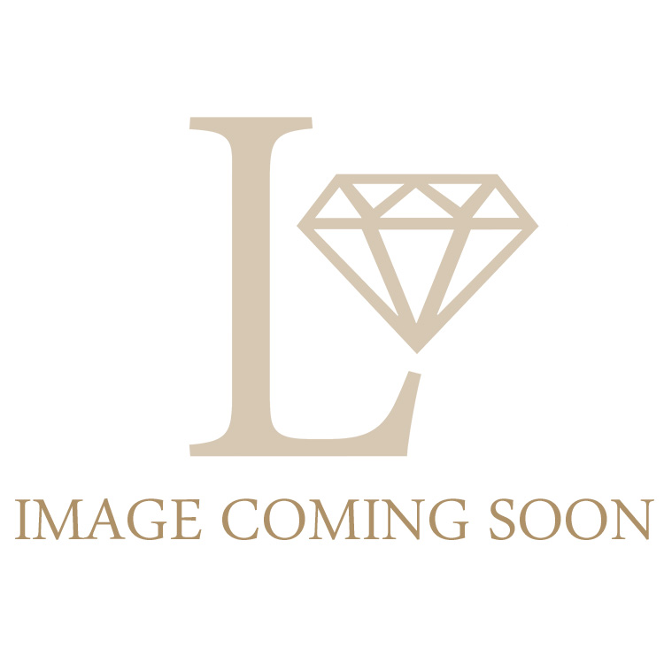 Petite Diamond Oval Engagement Ring 0.15ct, 18k White Gold