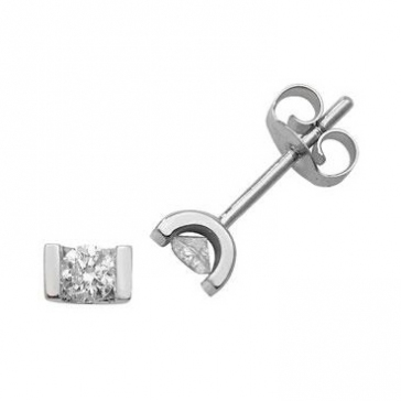 Diamond Studs 0.25ct Tension Set, 9k White Gold