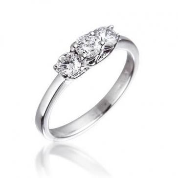 Diamond Three Stone Trilogy Ring 0.50ct in Platinum