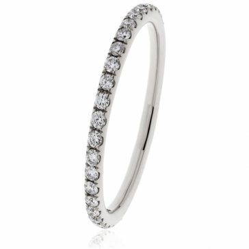 Petite Diamond 60% Eternity Ring, 18k White Gold