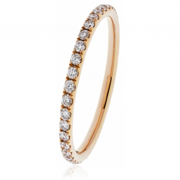 Petite Diamond Full Eternity Ring 0.30ct, 18k Rose Gold